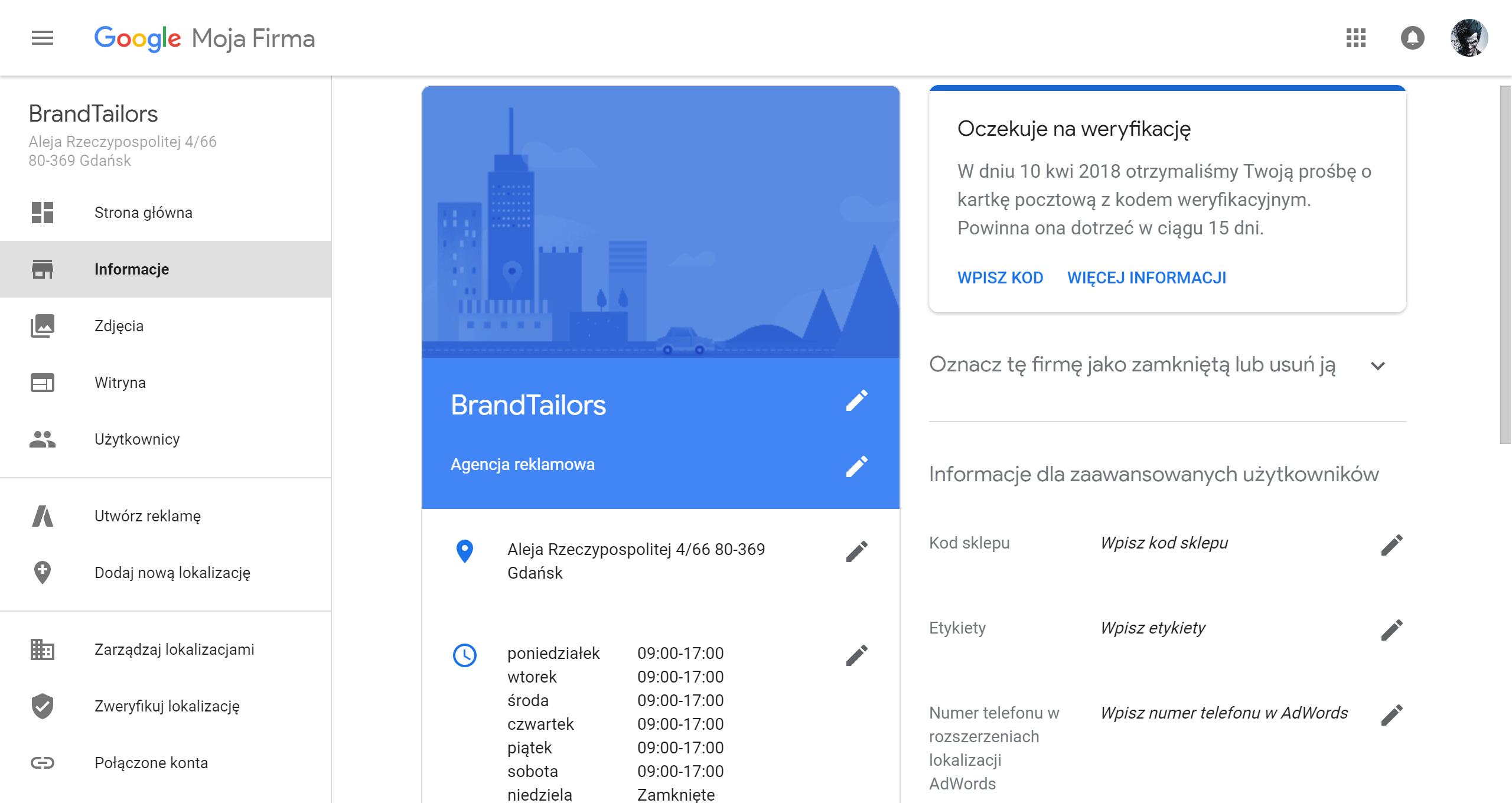 Informacje-do-uzupełnienia-google-moja-firma-brandtailors